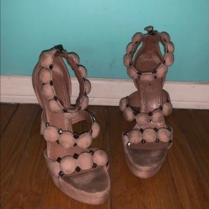 Alaia- Bombe sandals suede taupe !!!!